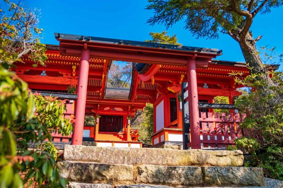 Miyajima shrine, a traditional Buddhist structure on mt. misen