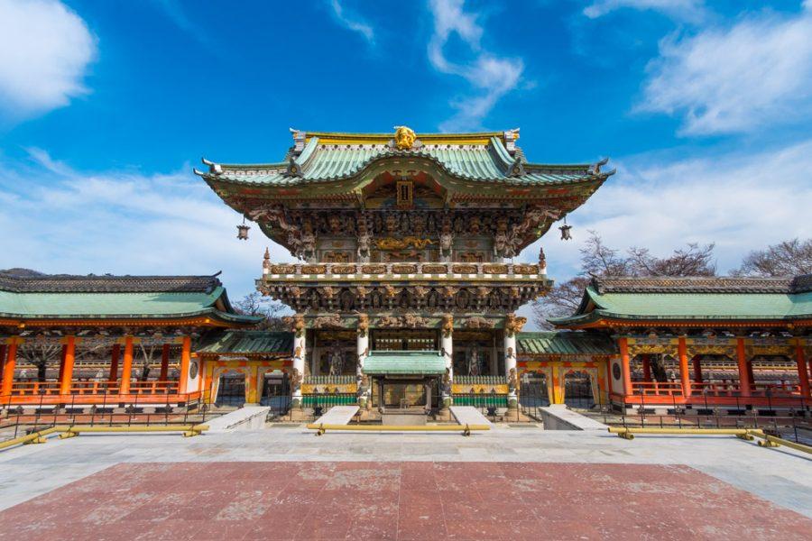 ornate Japanese shrine at Kosanji temple in Japan