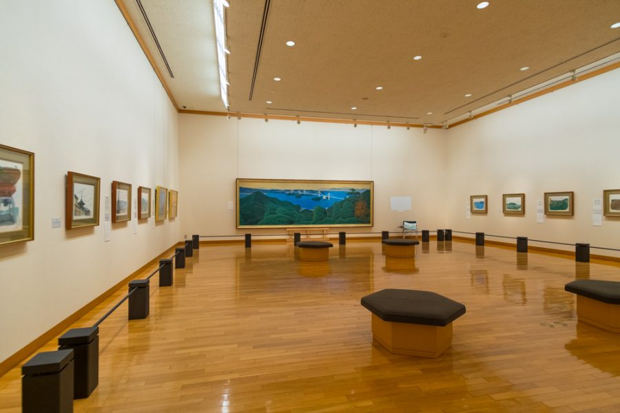 gallery space of Japanese museum in hiroshima