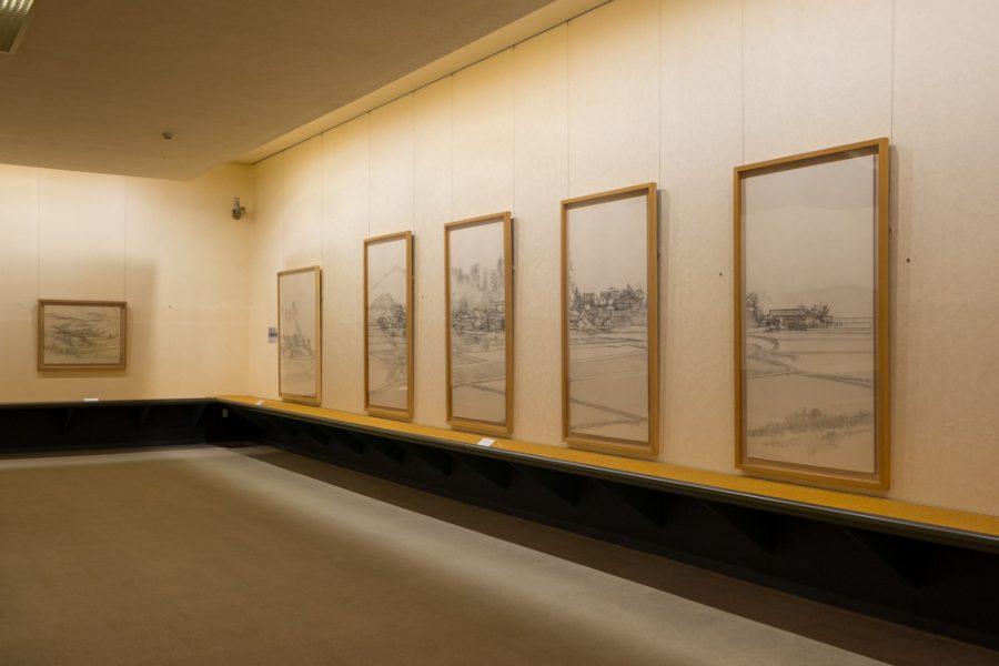 nihonga style japanese painting in museum in Japan