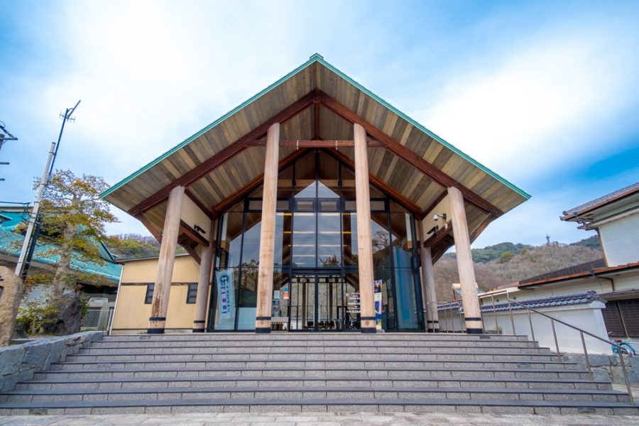 Omoshima museum exterior, an art museum stopping point along the Shimanami Kaido