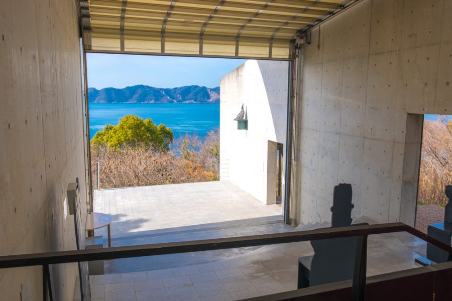 ocean views at Tokoro Museum in Ehime, Japan, which cycling the Shimanami Kaido