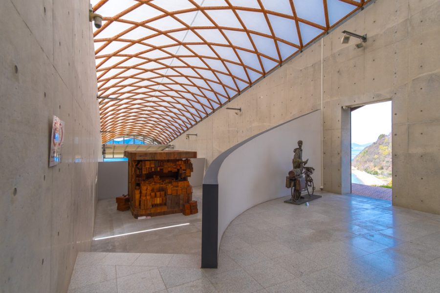 interior of Japanese modern art museum in Japan