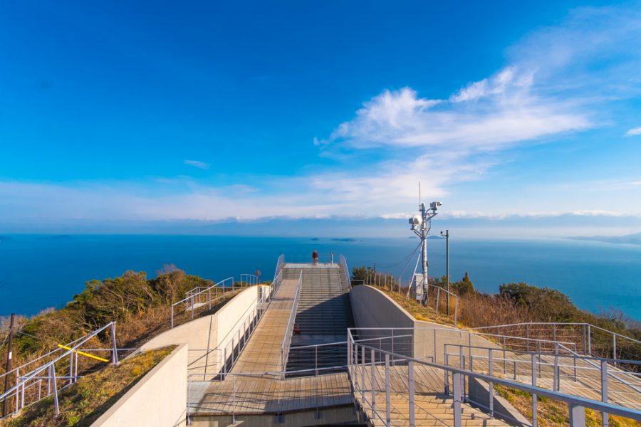 ocean views from observatory in Japan