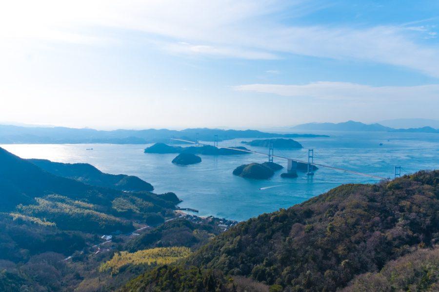bridge and ocean views along Japan's Shimanami Kaido cycling route