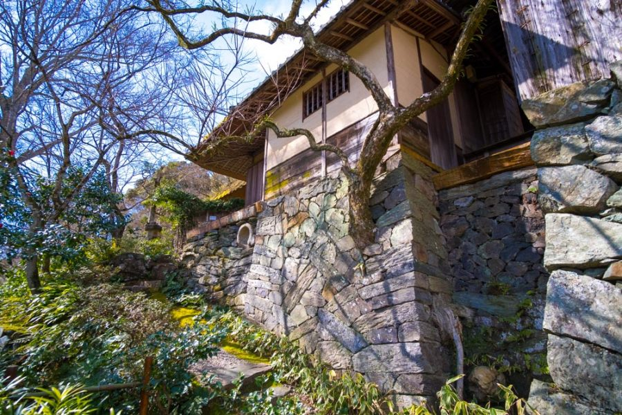 traditional japanese stone work in ehime, japan