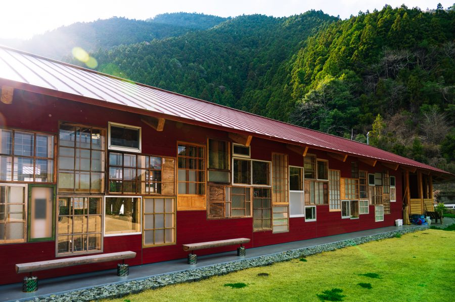 Kamikatsu Zero Waste Center was constructed with many recycled materials