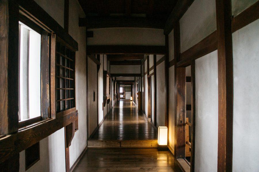 Intérieur du Nishinomaru Yagura-gun, dans le château de Himeji
