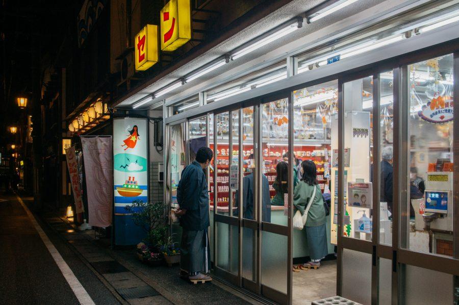 Stands de tir à la carabine rétro au Japon.