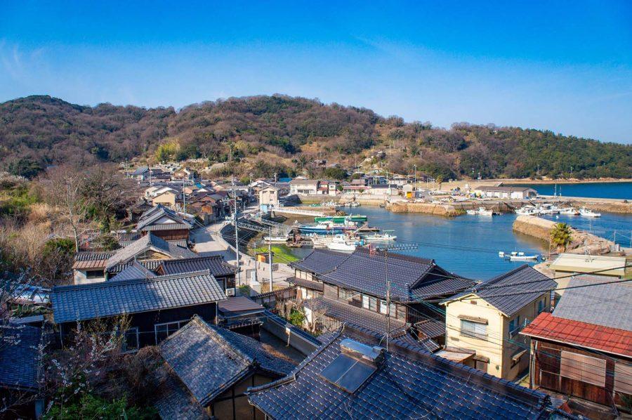 View of Manabeshima harbor