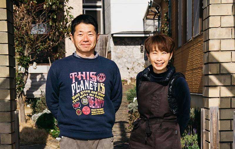 Michiru and Hironobu Hisaichi, owners and hosts of Shimayado Santora