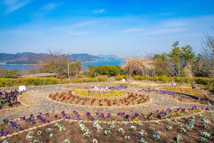 View of the Seto Inland Sea from Manabeshima Fureai Park