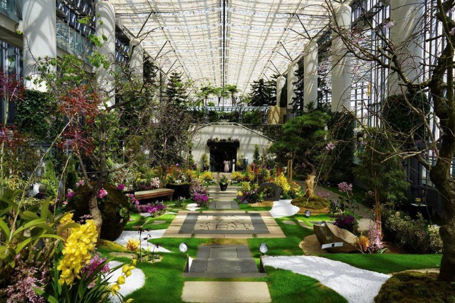 Japanese botanical garden and museum