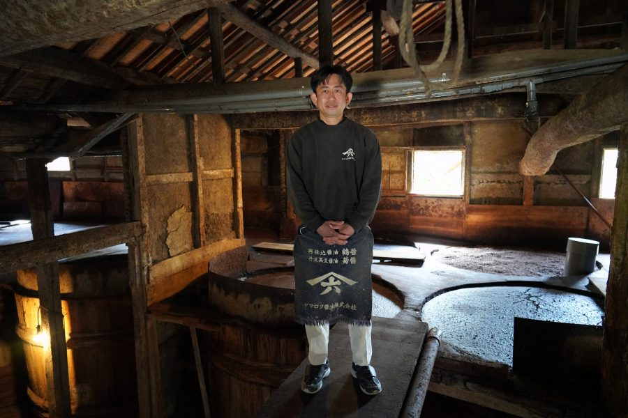 Japanese worker who make Soy Sauce